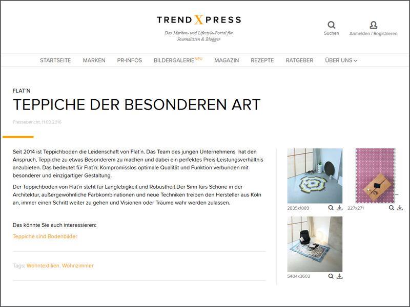 trendXpress – Teppiche sind Bodenbilder