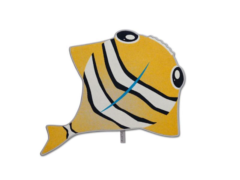 Der Fisch 001 - Sand-Teppich als Fisch-Kinderzimmerteppich als Fisch