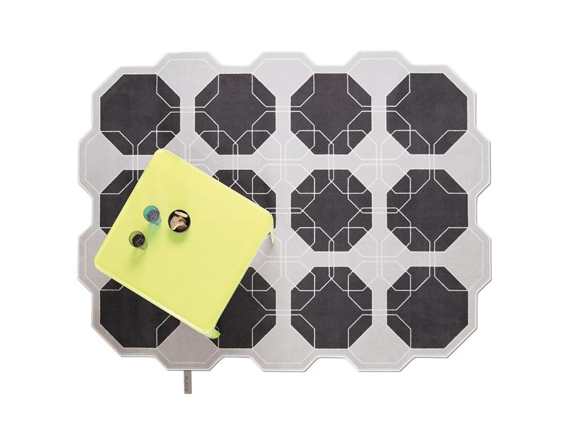 Moderner Teppich aus Wolle in Grau