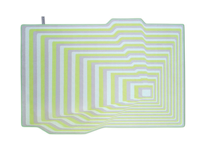 UP & DOWN 004-Moderner Wollteppich mit grafischem Linien Muster
